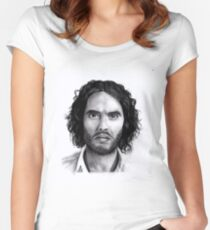 Russell Brand Portrait Women's Fitted Scoop T-Shirt