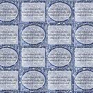 Cloudy blue Sky Star haiku pattern by PoemsProseArt
