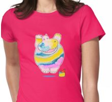 Hippo in the Paint Womens Fitted T-Shirt