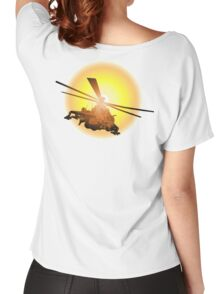Cartoon strike helicopter Women's Relaxed Fit T-Shirt