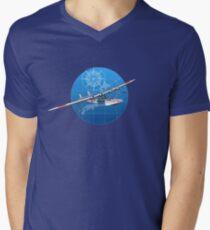 Retro hydroplane 30-40s Men's V-Neck T-Shirt
