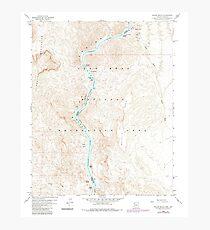 USGS TOPO Map Arizona AZ Willow Beach 314128 1959 24000 Photographic Print
