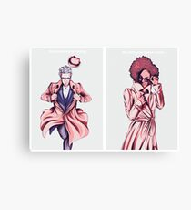 Doctor Who - Super Twelve and Pearl Canvas Print