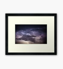 Cloudscape with thunder bolt Framed Print