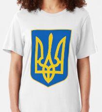 Ukraine Coat of Arms Slim Fit T-Shirt