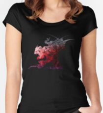 Final Fantasy VI logo universe Women's Fitted Scoop T-Shirt