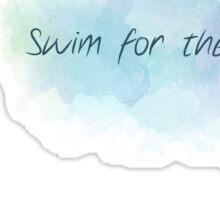 Swim for the music Sticker