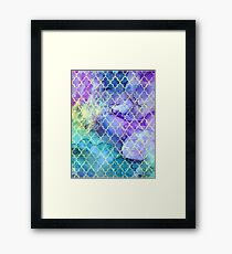 Watercolor and Ink Moroccan  Pattern Framed Print