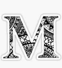 M Letter, Mandala Letter, Name, Personal, Mandala Sticker