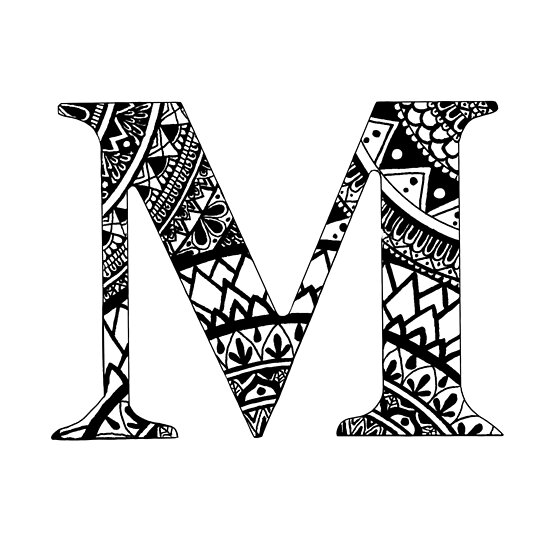 m letter mandala letter name personal mandala posters by