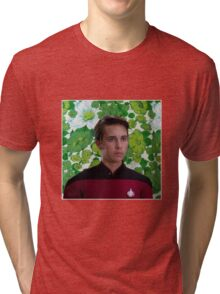 Floral Wesley Crusher Tri-blend T-Shirt