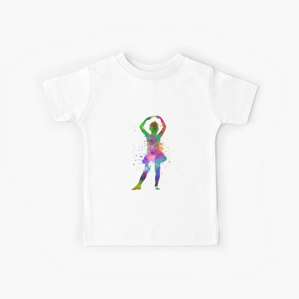 Ballerina-Balletttänzertanzen des kleinen Mädchens Kinder T-Shirt