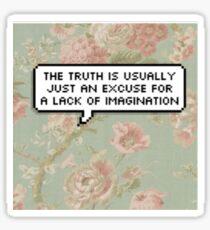 Elim Garak Floral Pixel Quote Sticker