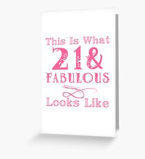 21st birthday greeting cards redbubble fun fabulous 21st birthday greeting card bookmarktalkfo Image collections