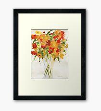 Yellow Orange Flowers Framed Print