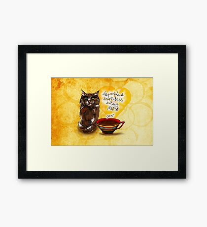 What my #Coffee says to me July 30, 2016 Framed Print