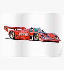 Le Mans Jaegermeister Porsche Poster