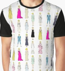 Marilyn Fashion Pattern on White Graphic T-Shirt