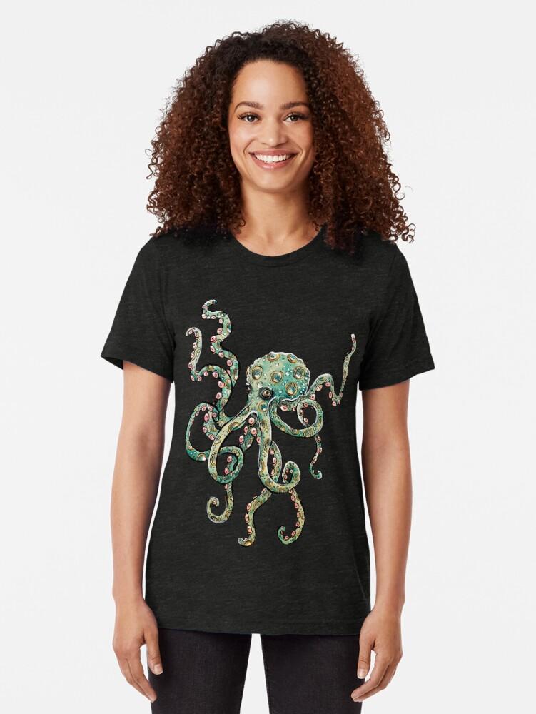 Alternative Ansicht von Tintenfisch Vintage T-Shirt