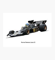 Lotus 72 Ronnie Peterson Photographic Print