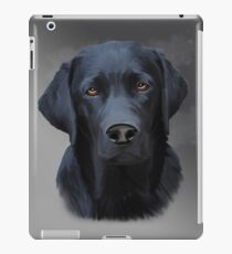 Black Labrador Dog Water Color Art Painting iPad Case/Skin
