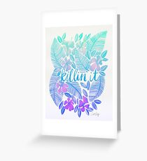 Killin' It – Turquoise + Lavender Ombré Greeting Card