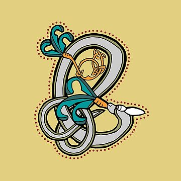 Celtic Rabbit Letter E - New Edition by Donnahuntriss