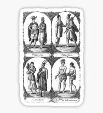 Native Americans – Trip Around the World (Blanchard, Pierre) Sticker