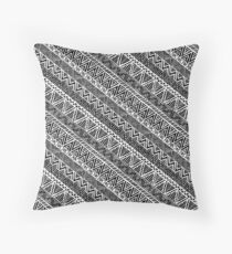 Black Panther Tribal Pattern Throw Pillow