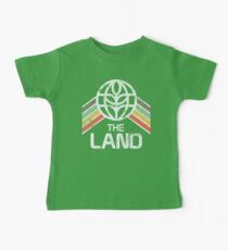 The Land Logo Distressed in Vintage Retro Style Baby Tee