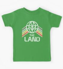 The Land Logo Distressed in Vintage Retro Style Kids Clothes