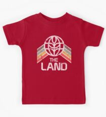 The Land Logo Distressed in Vintage Retro Style Kids Tee