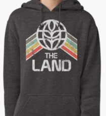 The Land Logo Distressed in Vintage Retro Style Pullover Hoodie