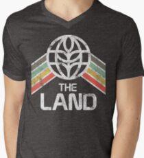 The Land Logo Distressed in Vintage Retro Style Men's V-Neck T-Shirt