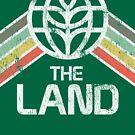 Das Land Logo Distressed im Vintage-Retro-Stil von retrocot