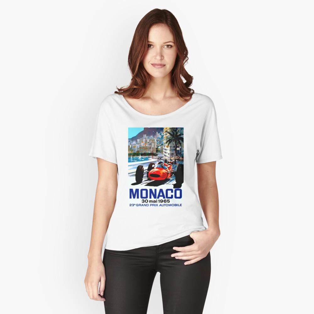 """MONACO GRAND PRIX"" Vintage Auto Racing Print Baggyfit T-Shirt"