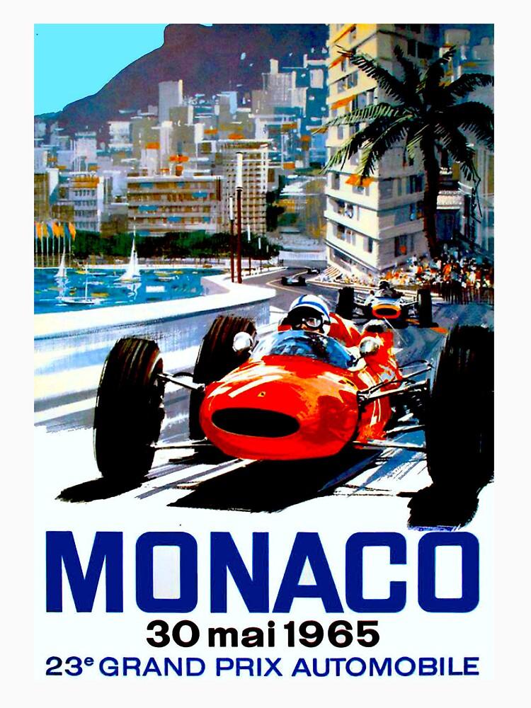 """MONACO GRAND PRIX"" Vintage Auto Racing Print von posterbobs"
