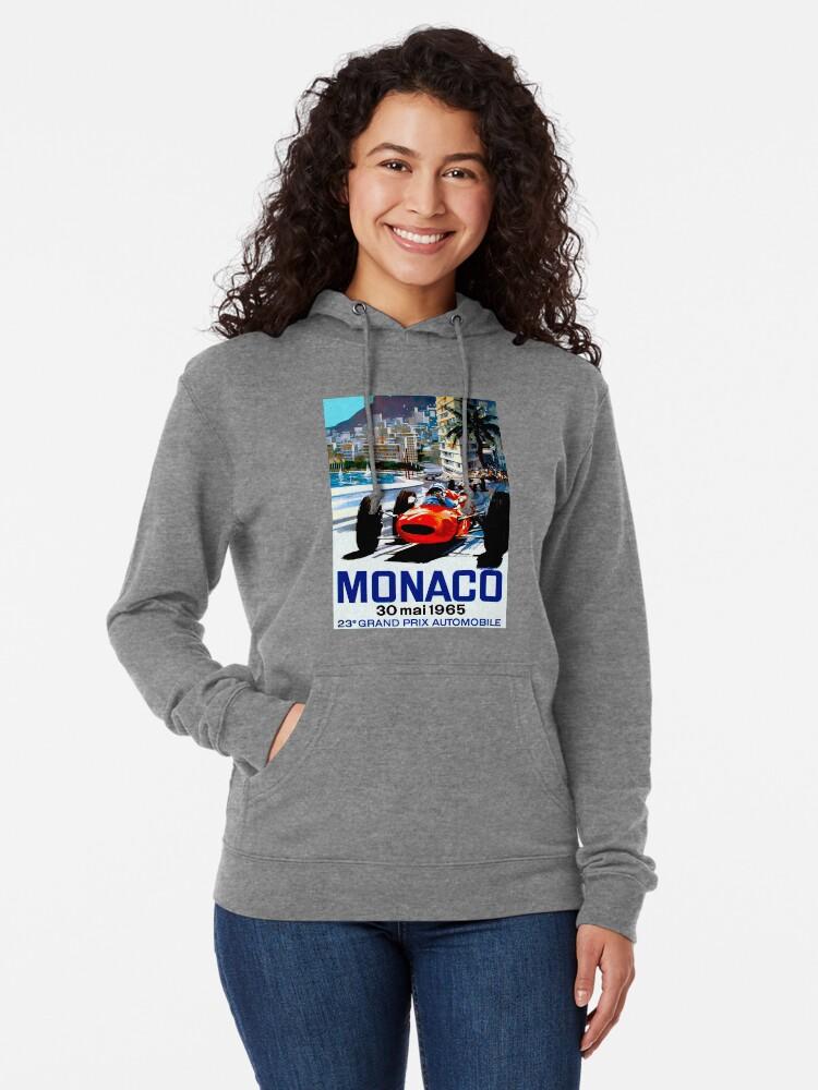 """Alternative Ansicht von """"MONACO GRAND PRIX"""" Vintage Auto Racing Print Leichter Hoodie"""