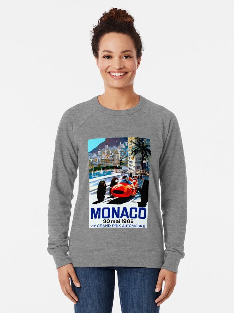"""Alternative Ansicht von """"MONACO GRAND PRIX"""" Vintage Auto Racing Print Leichtes Sweatshirt"""