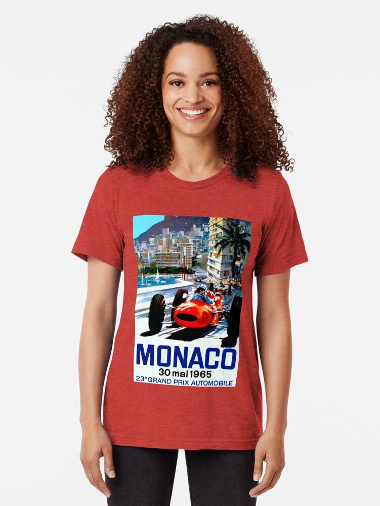 "Alternative Ansicht von ""MONACO GRAND PRIX"" Vintage Auto Racing Print Vintage T-Shirt"