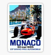 "Pegatina ""MONACO GRAND PRIX"" Vintage Auto Racing Print"