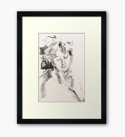 Lavinia - Candle Light Framed Print