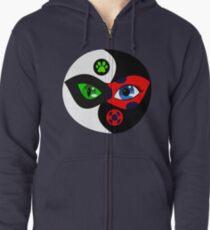Miraculous Ladybug Yin Yang Zipped Hoodie
