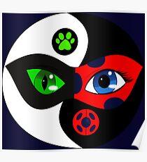 Miraculous Ladybug Yin Yang Poster