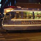 Merry Christmas Tram in Amsterdam by deadadds