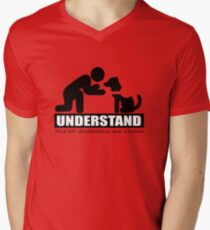 UNDERSTAND not all disibilities are visible (service dog) Men's V-Neck T-Shirt