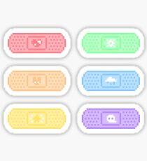 Pixel Bandaids Sticker