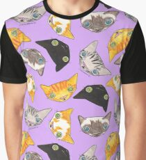 """""""Oro?"""" Cats - Lavender Graphic T-Shirt"""