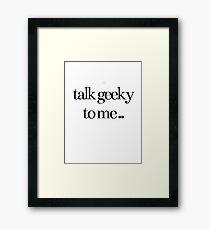 Geeky Framed Print