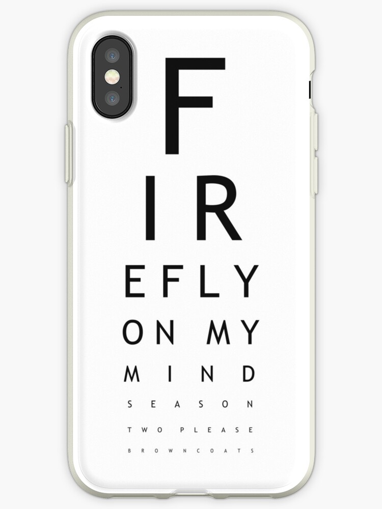 Serenity Eye Chart Iphone Cases Covers By Joshua Potter Redbubble
